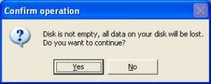 Confirmation Bootdisk