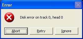 Disk Error