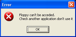 Floppy Error