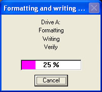 Format and write Bootdisk